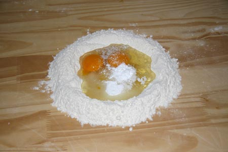 Fontana con ingredienti