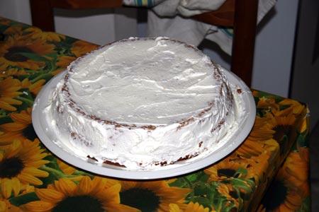 Ricopriamo di panna la torta