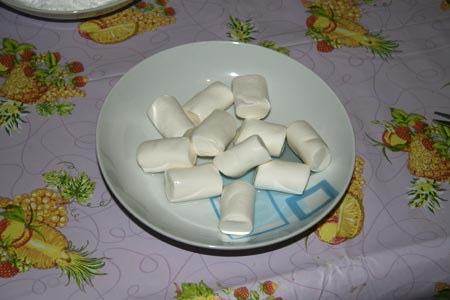 Marshmellows con l'acqua