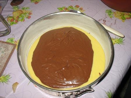 Poi un po' di impasto al cioccolato