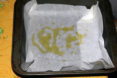 Teglia con un filo d'olio